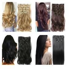 Synthetic Clip In Hair Pieces Natural Looking Invisible Hairpiece Extensions