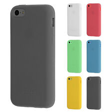 Silicone Skin Case for iPhone 5C Pure Color Shell Bumper Protective Cover