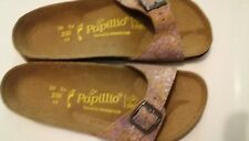 REDUCED - PAPILLIO LIC.BIRKENSTOCK - MADRID - LILAC/WHITE/BEIGE - LEATHER