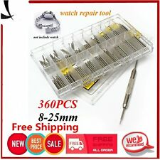 360Pcs 8-25mm Watch Band Strap Spring Bar Strap Pins Stainless Steel Tool Set&X