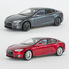 New Tesla Diecast 1:18 Scale Model S P85 Toy Display Car Mint Vintage Decor Gray