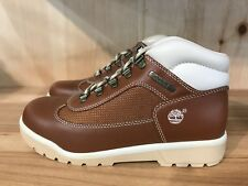 TIMBERLAND FIELD BOOT BROWN WHITE VINTAGE CONDITIONAL GS KIDS YOUTH SZ 6 Y 16912