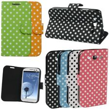 Leather Polka Dots Stand Flip Wallet Case Cover Pouch Samsung Galaxy S3 i9300 UK