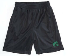 AGES: 12-13 OR 13-14 BOYS NOTRE DAME MESH LINED SHORTS BLACK NEW YORK USA BNWT
