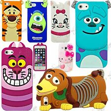 3D Cartoon Silicone Rubber Back Case Cover For Apple iPhone 8 7 6s 6 5s 5 SE S8