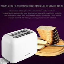 Electronic Bread Toaster 2-Slice & High-lift Lever w/ Removable Crumb Tray AB