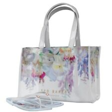 Ted Baker Womens Ferrian Hanging Garden Icon Bag And Flip Flops White