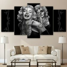 Framed Marilyn Monroe Canvas Print 5 Panel Poster Wall Art Painting Home Decor