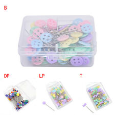 100X Patchwork Pins Flower Button Head Pins Quilting Tool Sewing Accessories KS