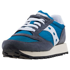 Saucony Jazz Original Vintage Womens Trainers Grey Teal New Shoes