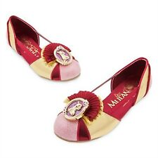 Disney Store Mulan Costume Shoes Princess Dress Up Fan Gold Accents RETIRED