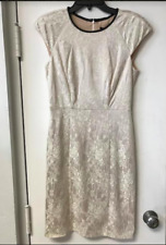 New ABS By Allen Schwartz Ivory Floral Lace Fitted Mini Dress Sz 6 8 12 $298