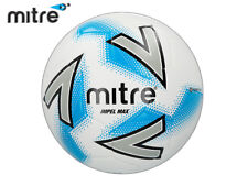 *BRAND NEW* MITRE 2018 - IMPEL MAX FOOTBALL - WHITE/SILVER/BLUE SIZE 3,4,5