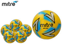 *BRAND NEW* 5x MITRE 2018 - IMPEL MAX FOOTBALL - YELLOW/SILVER/BLUE SIZE 3,4,5