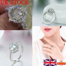 UK Women Fingers Rings Charm Crystal Zircon Diamond Circle Retro Party Jewelry