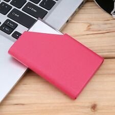 Business ID Credit Card Holder Stainless Steel & PU Leather Thin Card Case SN