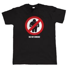 No Fat Chicks, Mens Funny Car or Biker T Shirt - Gift for Him Dad