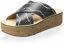 Marc Fisher Womens Icy Leather Open Toe Casual Platform Sandals