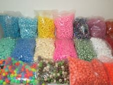 500 Pony Beads 6 x 9 MM - 4MM Hole Diameter - Assorted Colors