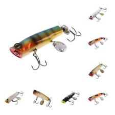 Fishing Lure 7cm Topwater Floating Popper Lures Baits for Bass Pike Dogfish