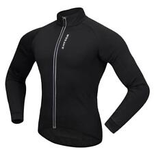 Cycling Coat Jersey Long Sleeve Windproof Hiking Long Jersey Camping Black