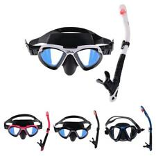 Adult Snorkeling Diving Large Frame Goggles Mask & Dry Snorkel Set Dive Gear