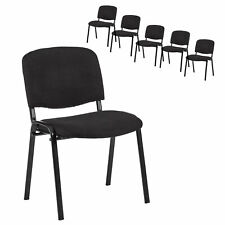 NEW Milan Direct Set of 6 Stackable Office Visitor Conference Chairs