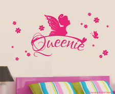 NEW Personalised Fairy, Butterfly and Florals Removable Wall Sticker
