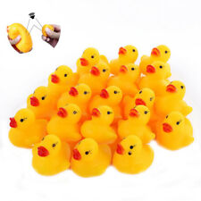 1-50pcs Mini Yellow Rubber Race Squeaky Bathing Duck Ducky Baby Toys Gifts Lots
