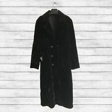 Furs2Love™1228N Mens Black Dyed Sheared Mink Sections Coat w/Sheared Mink Collar