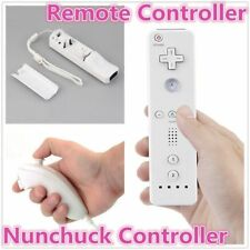Remote And Nunchuck Controller Set For Nintendo Wii Game + Strap For Remote YT