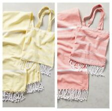 Anthropologie Ali Beach Towel & Bag Set by Shiraleah Chicago Yellow Pink NWT
