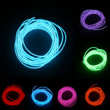 5M Colorful Flexible EL Wire Tube Rope Neon Light Glow Car Party Decor