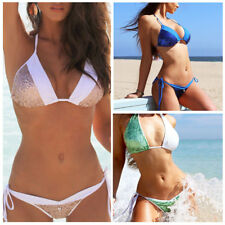 Women Sequin Padded Push Up Bikini Swimwear Swimsuit Summer Beach Bathingsuit
