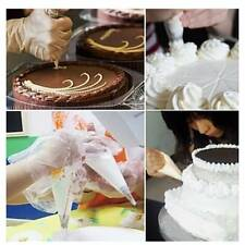 100Pcs Disposable Piping Bag & Icing Nozzle Fondant Cake Decorating Pastry AN