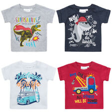 Baby Boys T shirt Tops Short Sleeved 100% Cotton  0-3 Months up tp 18-24 months