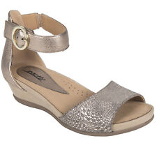 New Womens EARTH SHOES Hera Champagne Printed Suede Sandals 601791WPRT-CHP
