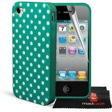 Durable Polka Dot Hard Gel Silicone Case Cover for Apple iPhone 4 4S