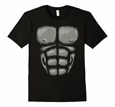 Gorilla Chest Muscles Shirt Halloween Costume Monkey Suit
