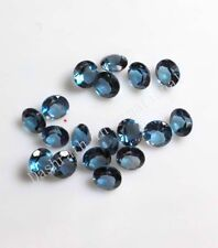 Natural London Blue Topaz Round Cut Calibrated Size SI Clarity Loose Gemstone