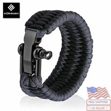 BEST Paracord Survival Bracelet with Adjustable, Suitable for 8 to 9 Inch Wrists