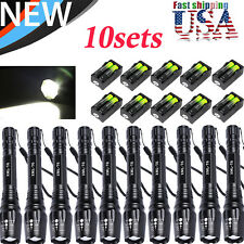 80000Lumen Lamp T6 Zoom LED Flashlight Torch Lamp Rechargeable 18650 Charger US