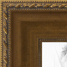 ArtToFrames 1.5 Inch Muted Gold Wood Picture Poster Frame -D10051