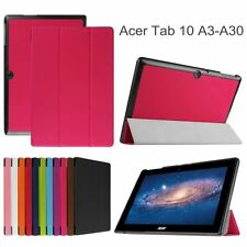 Ultra Slim Tri-Fold Case Cover Protector Skin Pouch F Acer Iconia Tab 10 A3-A30