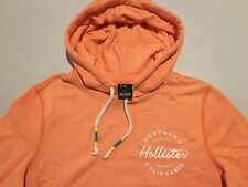 Abercrombie & Fitch Hollister Hoodie Men's Fleece P/Over Sweatshirt S Orange NWT