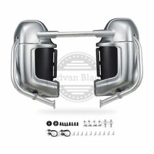 Brilliant Silver Lower Vented Fairings Kit Fit Harley Davidson Touring 1986-2013