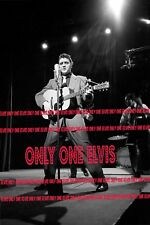 1956 ELVIS PRESLEY on TELEVISION Photo 'Dorsey Brothers Show' Live on Stage