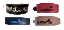 """Weight Lifting Belts 4"""" Pads Leather XS S M L XL Red Blue Black Tan"""