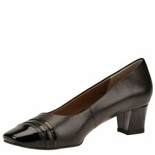 Auditions Womens classy Leather Cap Toe Classic Pumps, Brown/black, Size 9.0