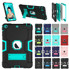 Shockproof Heavy Duty Rubber Armor Case Stand Cover For Apple 2 3 4 Mini Air Pro